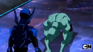Young Justice Invasion Overall Episode 46 Season 2 Episode 20 Endgame Blue Beetle and Kid Flash Triumphant 5