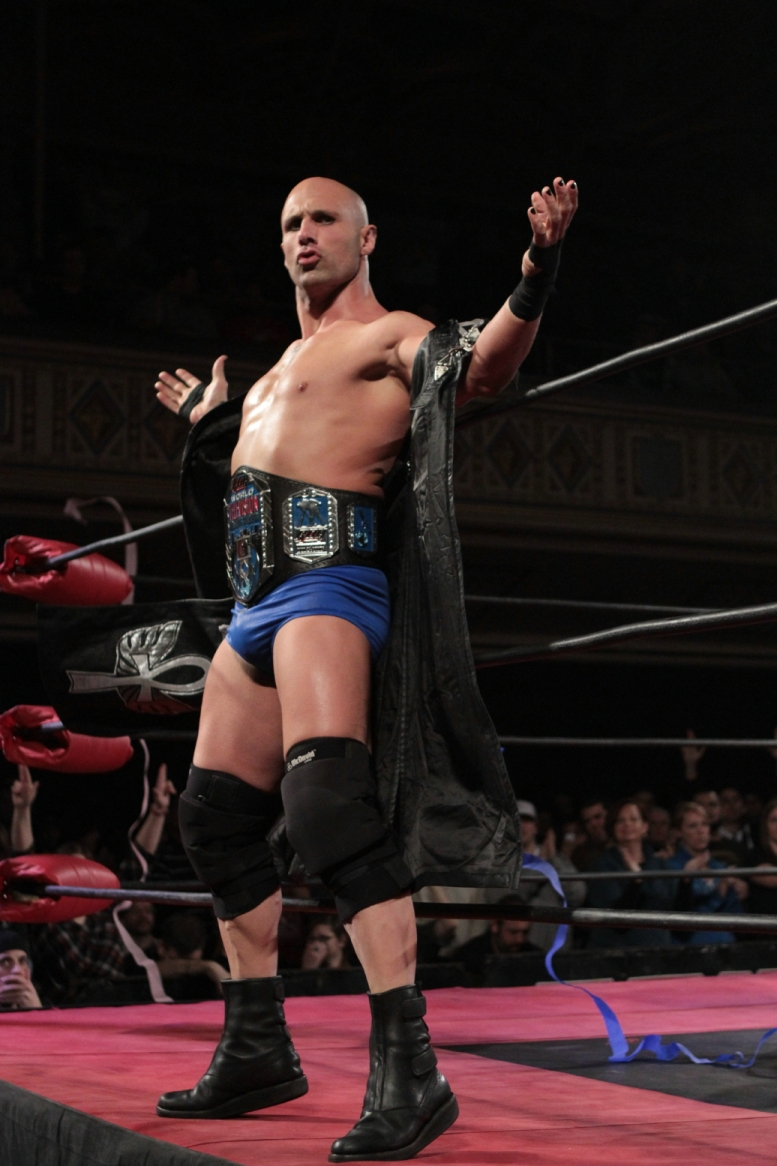 Christopher Daniels Posing with ROH TV Title